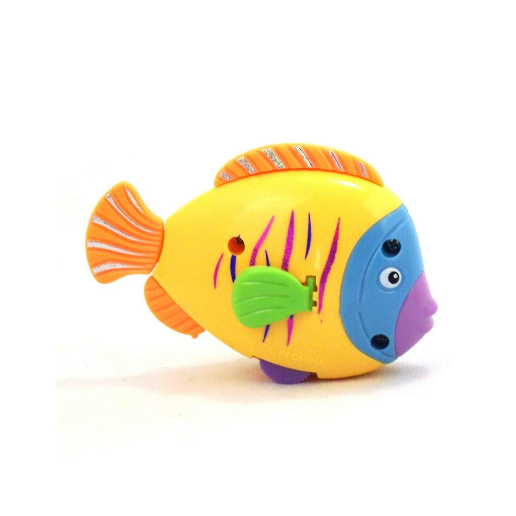 Ben-gi Beb/é reci/én Nacido pl/ástico de los ni/ños Juguete de Cuerda Pescado Colorido Lindo de la Cola de pez Viento Arriba el Juguete