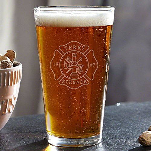 Firefighter Personalized Pint Glass (Customizable Product)
