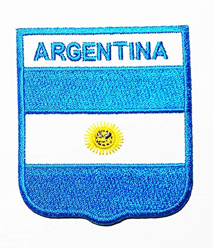 National Flag Argentina South America Logo Patch Embroidered Sew Iron On Patches Badge Bags Hat Jeans Shoes T-Shirt ()