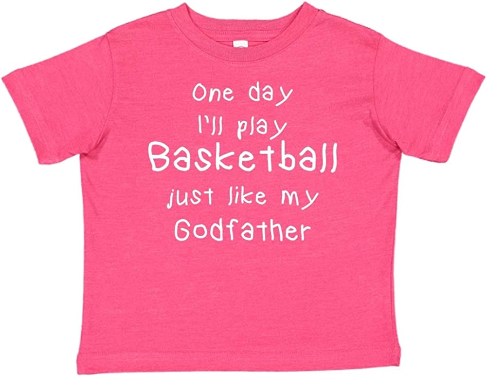 Toddler//Kids Short Sleeve T-Shirt One Day Ill Play Basketball Just Like My Godfather