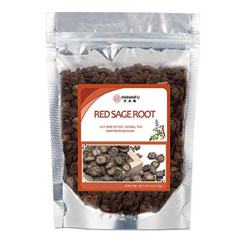 Salvia Miltiorrhiza Root /Processing Herb Tea/ Cut Pieces Slices Red Sage Root Dan Shen 丹参(制)4 oz