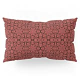 Society6 Aurora Red Geometric Pillow Sham King (20'' x 36'') Set of 2