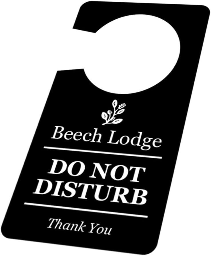 OriginDesigned B/&B e Case degli Ospiti Lato Singolo Cartello per Porta con Scritta Do Not Disturb in Bianco e Nero per Hotel