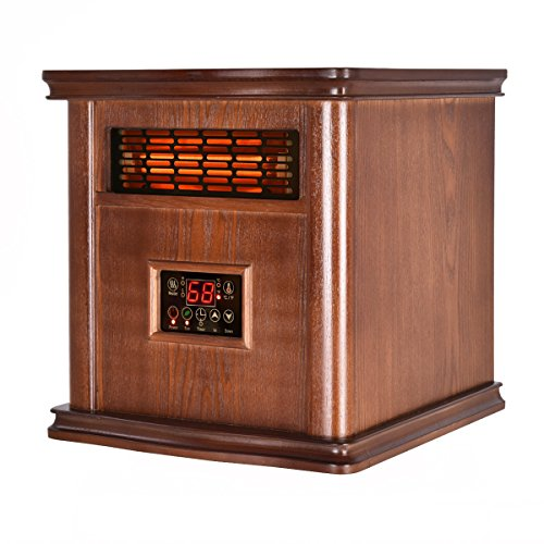 Giantex 1800 Sq. Ft Infrared Electric Portable 1500W Space Heater Quartz Heater W/Remote Featured Giantex Infrared Heaters