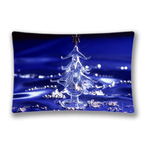 merry christmas hd wallpaper Zipper Pillowcase Standard Size 20x30 Pattern Design Soft and Comfortable Pillow Cover Sham(Twin Sides) ()