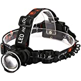 LED Headlamp,CrazyFire Cree 800lm Super Bright Headlamp Headlight Flashlight, 3 Modes Zoomable Runners Headlamps for Hiking,Camping,Reading,Fishing,Hunting,Outdoor Sports(Black)