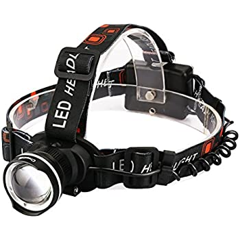 Incroyable LED Headlamp,CrazyFire 800 Lumens XML T6 CREE Hunting LED Headlights,Zoomable  3