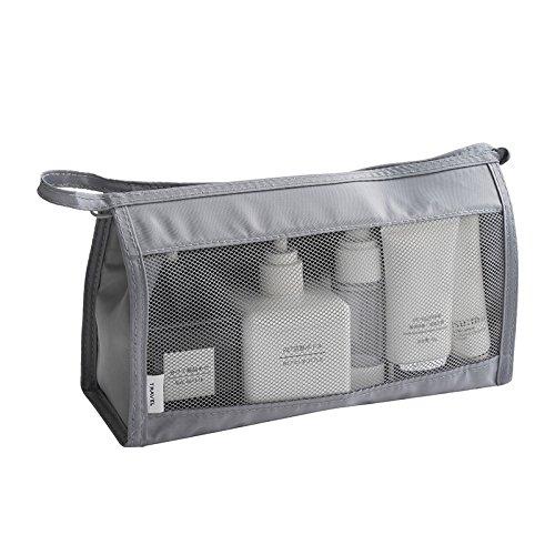LULAN Reisetasche kit Portable waschen Package Tour Must-haves Mädchen Kosmetik Tasche großer Kapazität, 26 * 15 * 9 cm, Dunkelgrau