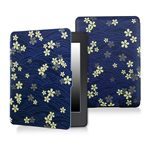 Case for kindle paperwhite-Original Design Case Skin with Auto Wake / Sleep for kindle paperwhite (Fits 2012, 2013, 2015 and 2016 Versions) (Cherry blossoms) (My Printing Kindle From)