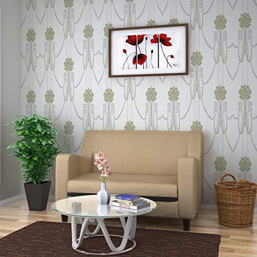 @home by Nilkamal Gregory Two Seater Sofa  Magic Cream