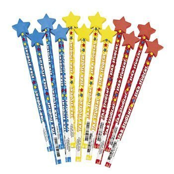 Fun Express Star Student Pencils with Eraser Tops by Fun Express