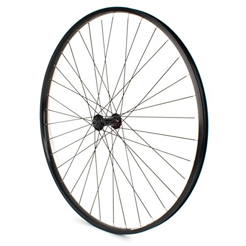 Sta Tru Front UCP ST735 36H Rim with UCP Spoke KT ATB 9mm/100/108 Axle, Black, 700 x 35