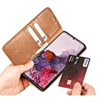 ClickCase Dual Tone Vintage Series, Faux Leather Wallet Flip Case Kick Stand Magnetic Closure Flip Cover for Realme 8…