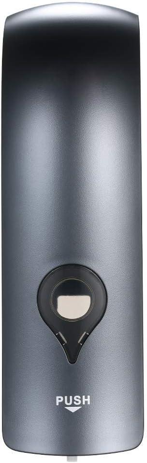PopHMN Dispensador De Jabón Manual Montado En La Pared, Dispensador De Desinfectante De Una Cabeza, Limpiador De Lavado De Manos, Bomba De Jabón, 300 Ml (Gris)