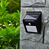 ELEOPTION Solar Lights Outdoor Garden 8 Lights LED Wireless Waterproof Motion Sensor PIR for Patio, Deck, Yard, Garden,Flagpoles, Fence Posts etc (4 Pack)