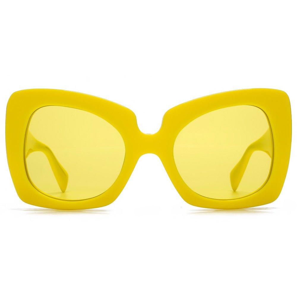 f1dd2a496e9 Amazon.com  Versace 4308 Womens Oversized Sunglasses 5173 85 Yellow Frame   Yellow  Lenses  Versace  Clothing