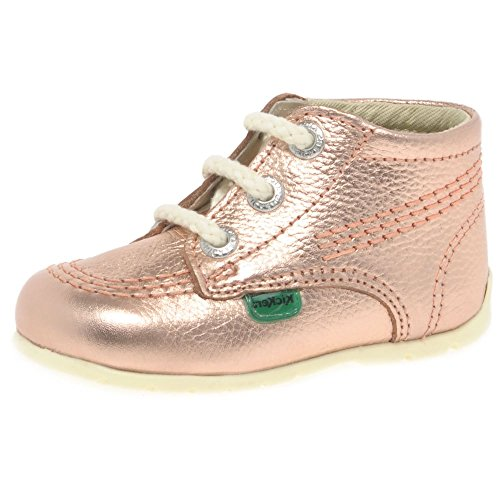 Kickers Kick Hi B Rose Gold Leather 21 EU/5.5 M US (Baby Kickers)