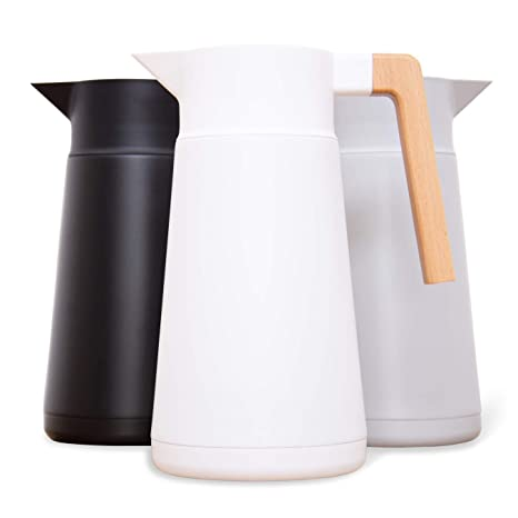 Amazon.com: Jarra de café térmica grande – acero inoxidable ...