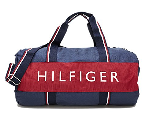 Tommy Hilfiger Harbor Point Nylon Duffle, Navy, Red, White