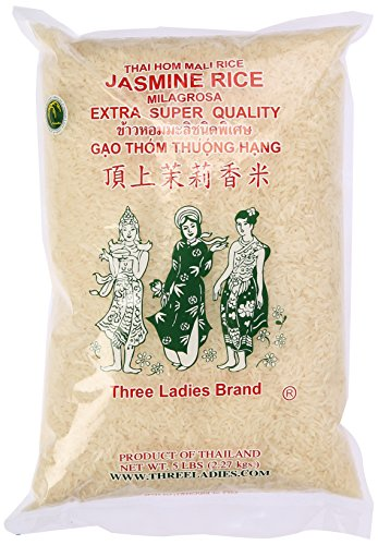 Three Ladies Jasmine Rice Long Grain 5 lbs