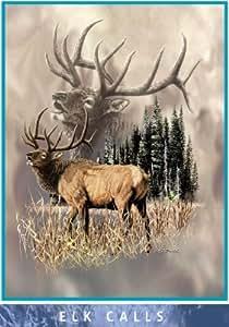 Alaska's Wildlife Mink Plush Blanket Queen Size - Signature Collection