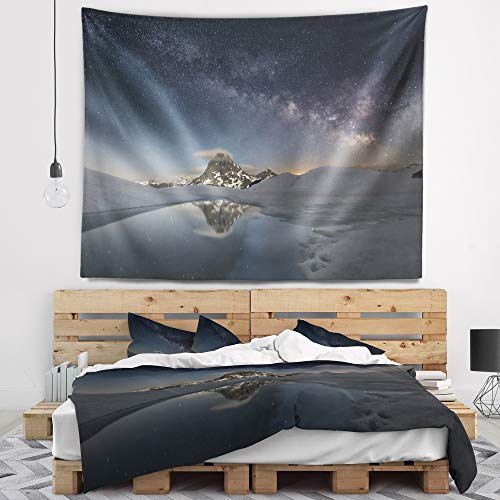 Designart TAP9428-80-68 Dark Mountains in Spain Wall Tapestry, X-Large/80 x 68'' by Designart