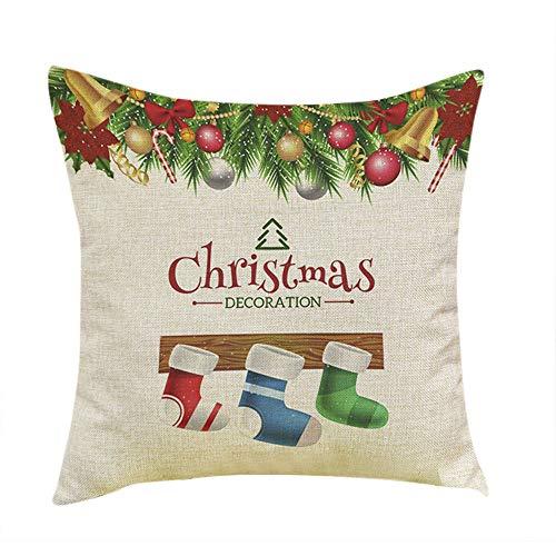 Christmas Pillow Covers, HunYUN Christmas Tree Printing Pillows Dyeing Sofa Bed Home Decor Pillow Cover Cushion Cover -