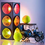 Kicko Traffic Light Lamp - Plug-in, Blinking Triple Sided, 12.25 Inch - for Kids Bedrooms, Decorations, Parties, Celebrations, Props, and