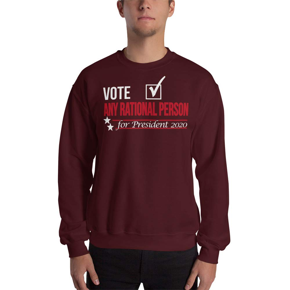 Sweatshirt Maroon STFND Vote Any Rational Person