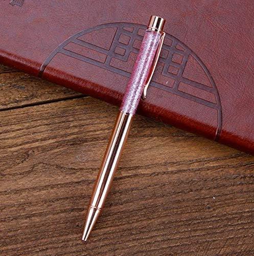 Energystation 3 PCS Diamant Cristal Bling Stylos /À Bille Mignon Mince Cristaux Diamants Strass stylo avec Top Diamant R/étractable Stylos /À Bille Rose Couleur