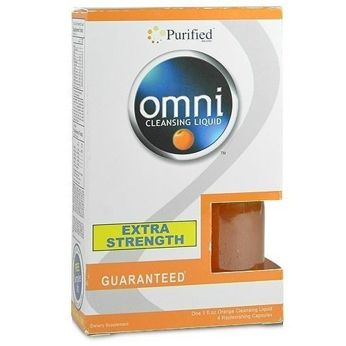 5 Pack - Purified Omni Cleansing Liquid 1 Fl Oz and Capsules Orange Flavor with Free Im Baked Bro and Doob Tubes Sticker (Omni Purified Extra Strength For Drug Test)