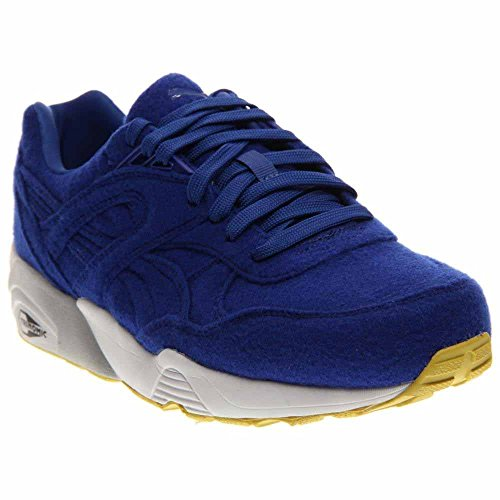 Puma Mens R698 Ljusa Ankel-high Tyg Mode Gymnastiksko Blå