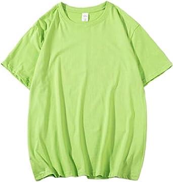 DressUMen Del color del caramelo más el tamaño de cuello redondo casual camisa camiseta para Hombres: Amazon.es: Ropa y accesorios