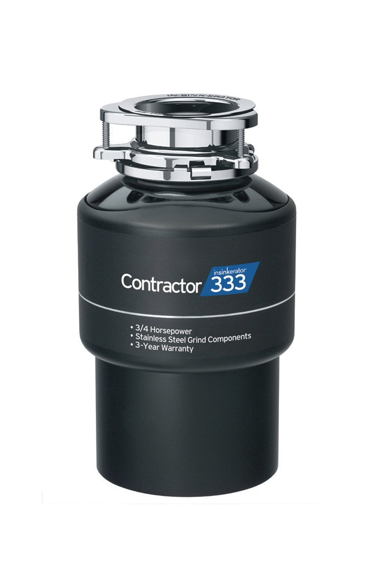 InSinkErator CNTR333 Contractor Garbage Disposal 3/4HP, 14.00 x 8.00 x 0.08 inches