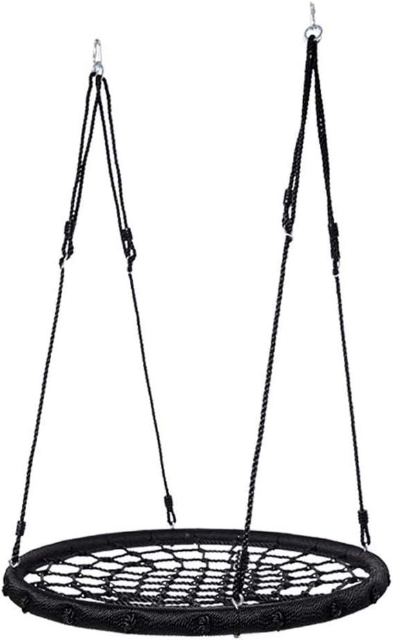 Swing Children's Outdoor Nest Swing Swing Swing Seat Height Adjustable Black Mesh Weaving