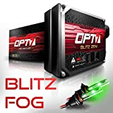 OPT7 Blitz 25w H1 Fog Light HID Kit - Relay Bundle - All Bulb Sizes and Colors - 2 Yr Warranty [Hot Green Xenon]