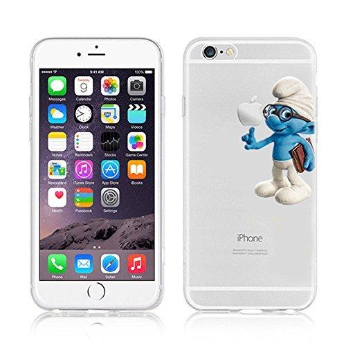 Disney Smurfs Transparent Clear TPU Soft Case For Apple iPhone 7 Plus BRAINY