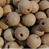 48 Natural 22mm Macrame Large 5mm Hole Barrel Rose Wood Beads