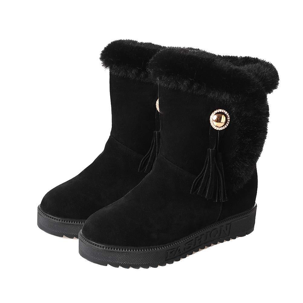 Damen Schneestiefel Rutschfest Warm Halten Stiefel Aus Baumwolle Wasserdicht Flache Flache Flache Stiefel Martin Stiefelies d167a9