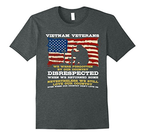 Mens Vietnam Veteran T-shirt - We Still Loved Our Country Large Dark - Shirt T Vietnam