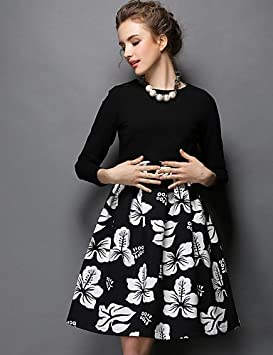 Mujer Vestidos Casual 2016 Verano Otoño Invierno Mujeres Europa elegante Vintage impresión vestido + Blusa de