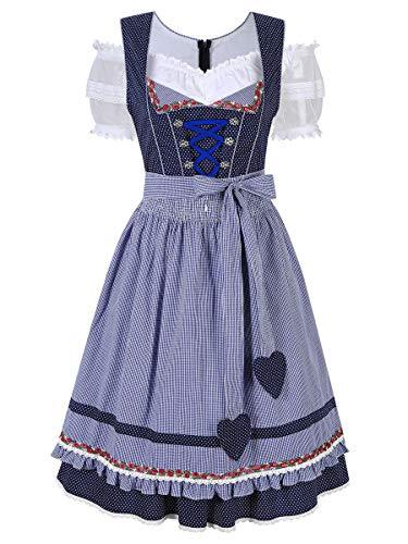 Evaliana Oktoberfest Waitress Party Dress German Bavarian Beer Wench Carnival Halloween Costume Maid -