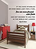 "Vinyl Wall Decal Inspirational Quote Repentance and Forgiveness ""You Can Move Forward With Faith"" President Boyd K Packer Sticker Home or Clinic Decoration"