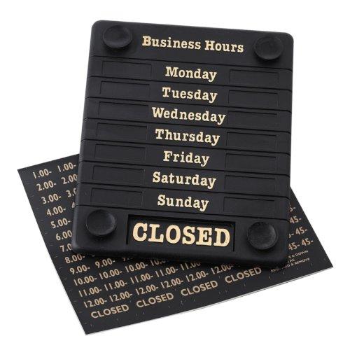 Door Sign - Open/Closed Business Shop Window 207X162X7mm Beaumont 8250