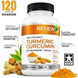 DOUBLE STRENGTH TURMERIC + BLACK PEPPER Capsules! 2 Month Supply! 1300mg! Non-GMO Turmeric Curcumin w Bioperine. Benefits Anti-inflammatory & Anti-Aging. Feel Less Joint Pain in 2 weeks! Review