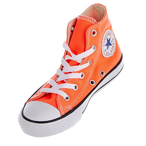 Converse Boys Kids' Chuck Taylor All Star Fashion Sneaker Shoe, Hyper Orange, 13.5