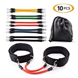 CCJK Resistance Bands Set 10 Exercise Bands