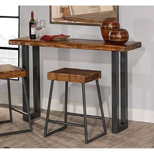 Hillsdale Furniture Sofa Table Natural Sheesham Wood in Gray