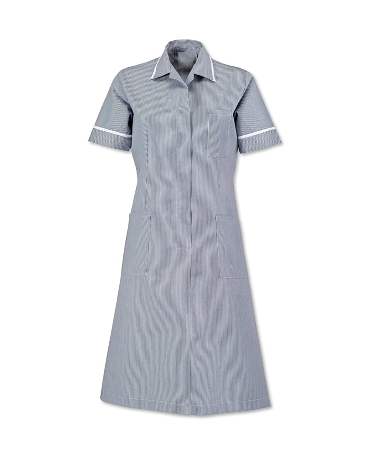 AX Short Sleeve Lightweight Striped Dress Colour Navy & White