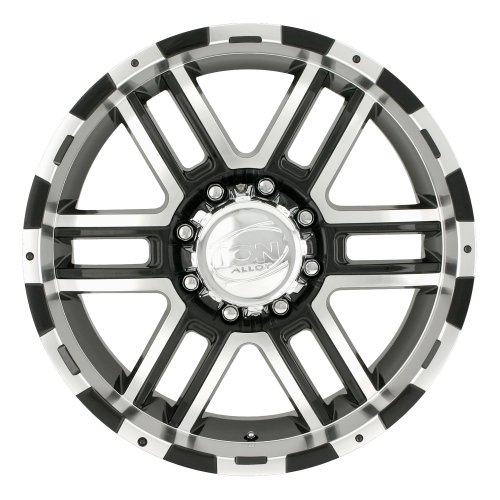 Ion Alloy 179 Black Wheel with Machined Face and Lip (18x9''/8x170mm) by ION (Image #3)